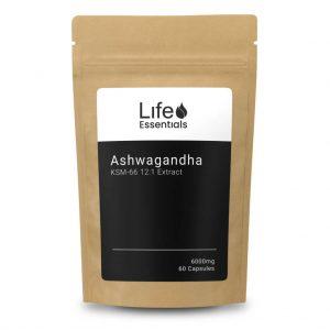 Ashwagandha KSM-66®- 12:1 Extract 60 Capsules - Life Essentials