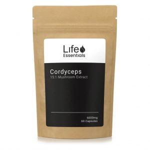 Cordyceps Mushroom 60 Capsules - Life Essentials