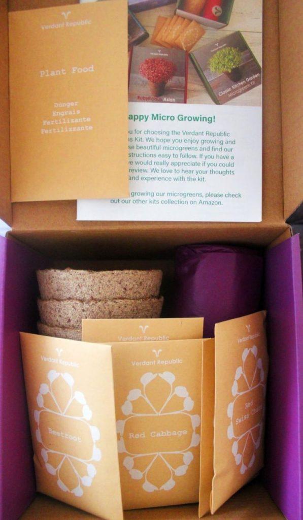 Purpilicious Microgreens Grow Kit Verdant Republic