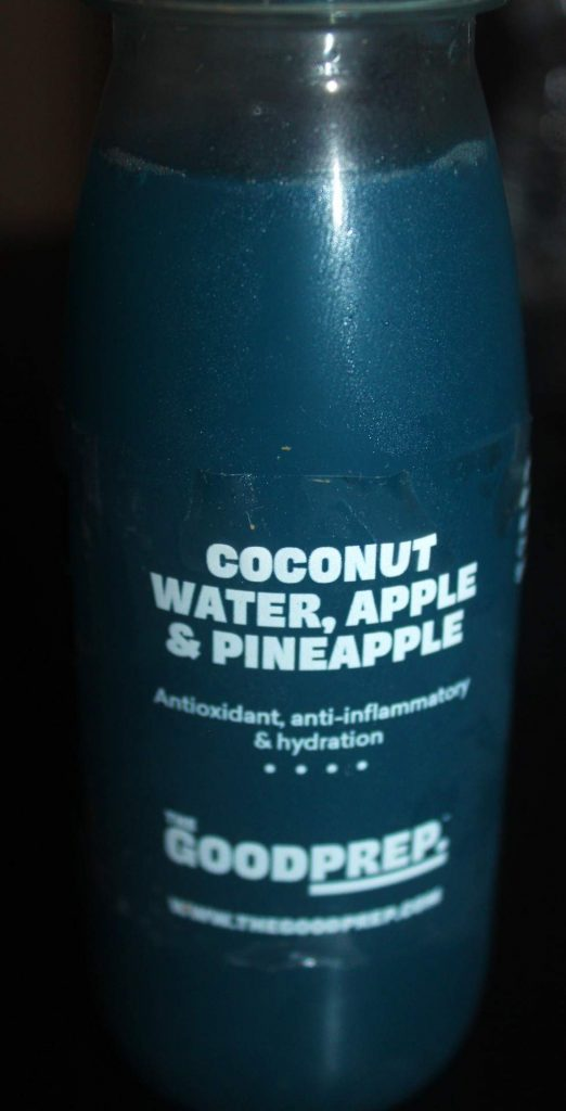 Coconut Water, Apple, Pineapple & Spirulina Juice The Good Prep