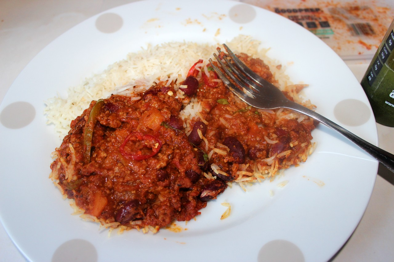 Beef Chilli + Basmati Rice The Good Prep Review